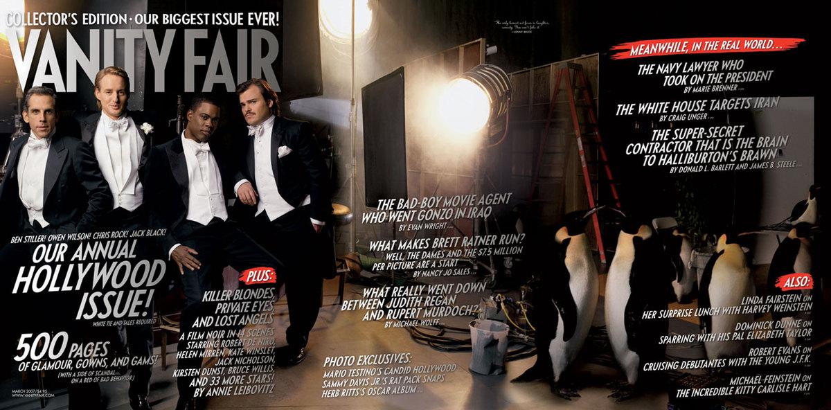 Vanity Fair Hollywood Issue Sees Benedict Cumberbatch And Eddie Redmayne Rubbing Shoulders With