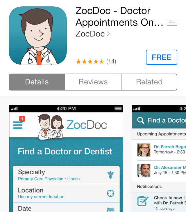 Doctor dating app
