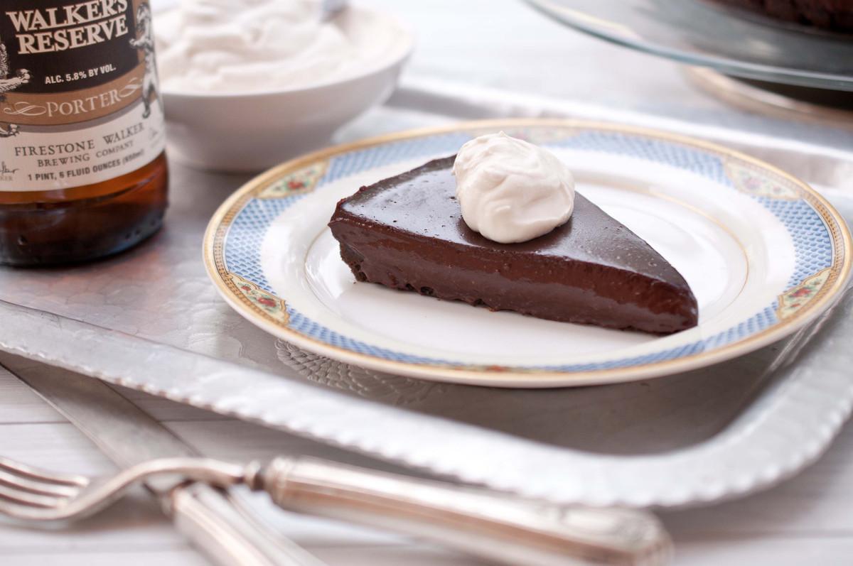 ... chocolate whipped cream triple chocolate tart with boozy whipped cream