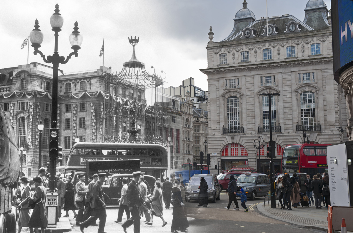 16 Ghostly Images Of London Landmarks Then And Now