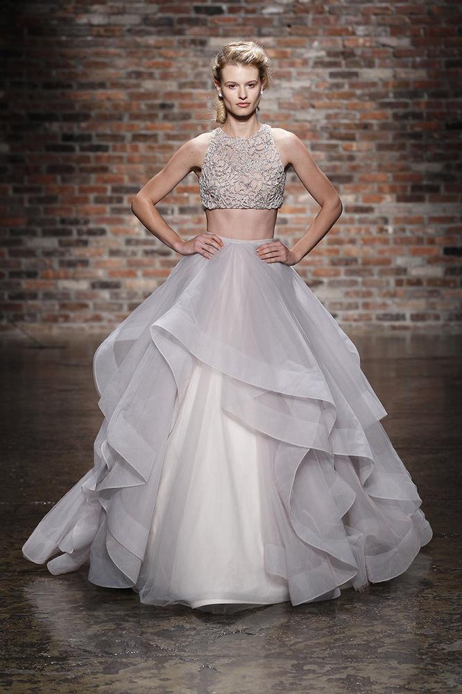 Image result for crop top wedding dresses