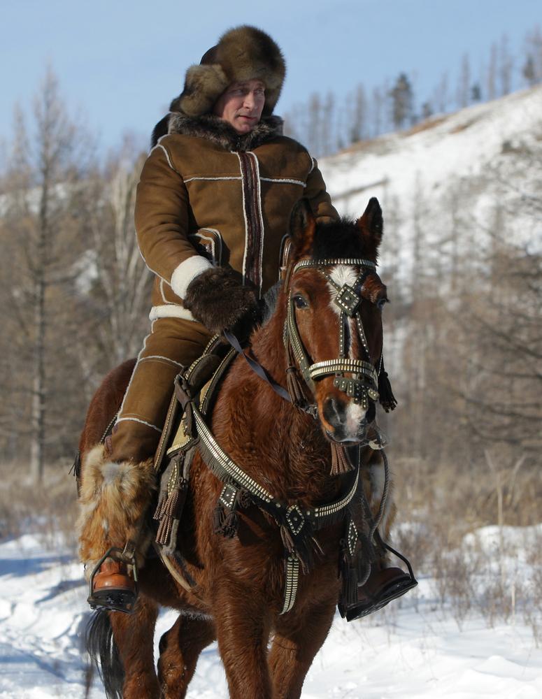 Vladimir Putin Riding A Horse