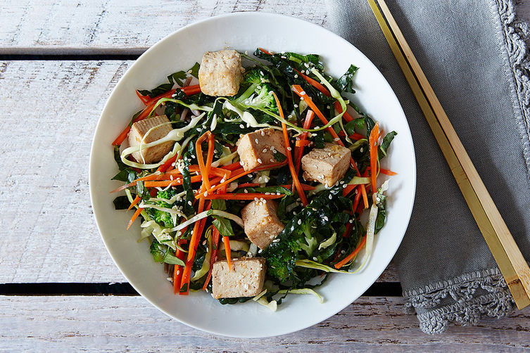 Get the Citrus Ginger Tofu Salad with Buckwheat Soba Noodles recipe by ...