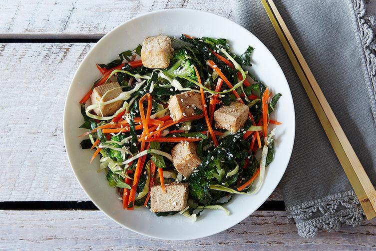 Hot Smoked Salmon, Soba And Asian Greens Salad Recipes — Dishmaps