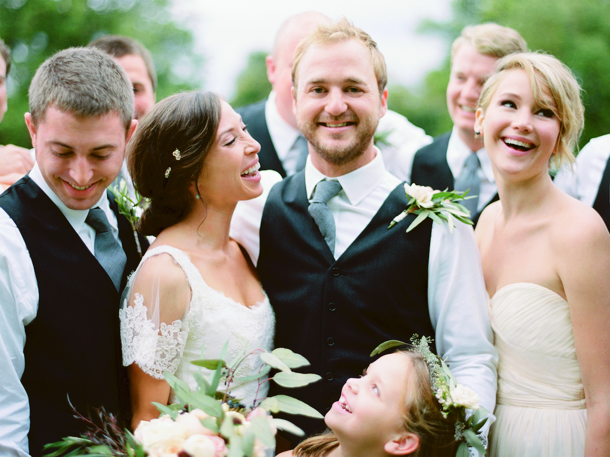 Jennifer Lawrence Stuns As A Bridesmaid At Her Brother's ...
