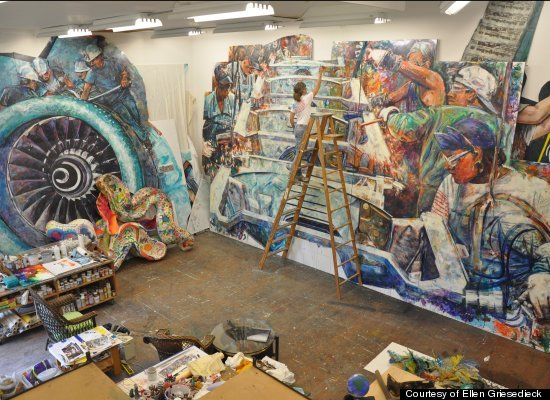 Huffpost greatest person of the day ellen griesedieck for American mural project