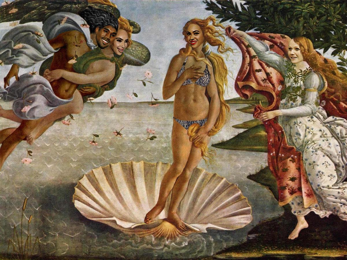 Oil Painting Aphrodite Fat