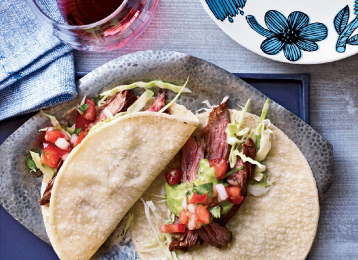 Chile-Spiced Steak And Grilled Onion Tacos Recipes — Dishmaps