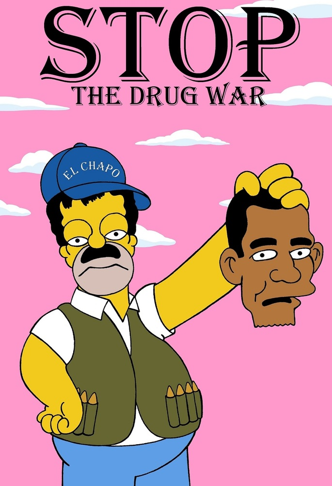 homer simpson is  u0026 39 el chapo u0026 39  in prophetic drug war art