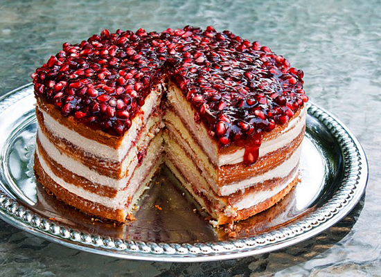 Get the Pomegranate Mousse Cake recipe by Chef Dennis