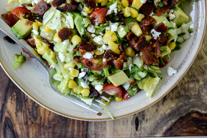 ... Chopped Salad with Corn, Feta and Avocado recipe by How Sweet It Is