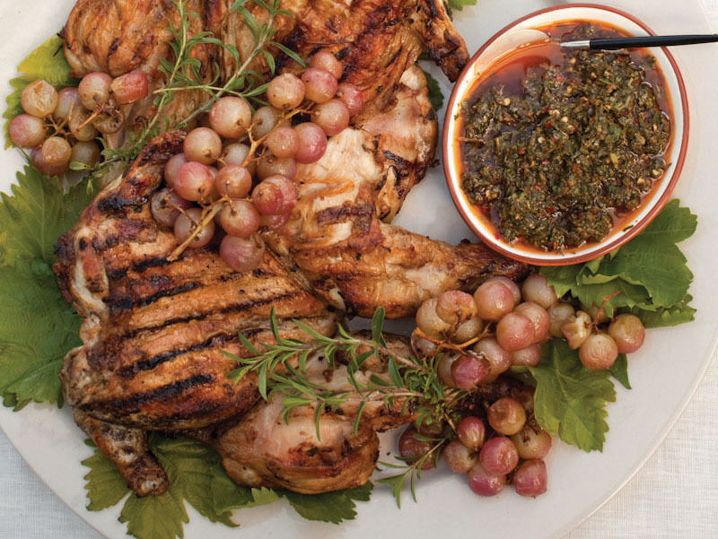 Brick Chicken With Rosé Wine And Bacon Recipes — Dishmaps