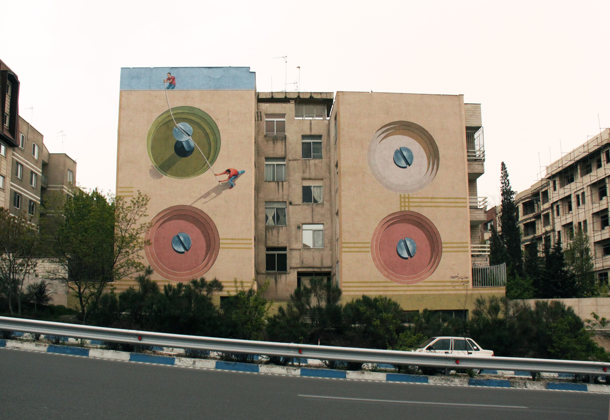 Iranian Artist Has Covered Over 100 Of Tehran S Walls In