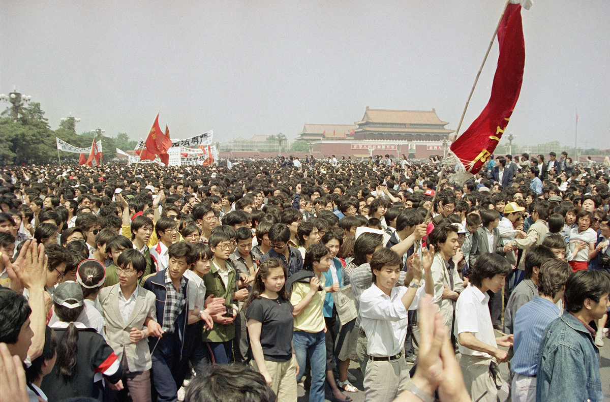 tiananmen square massacre The pro-democracy protest in beijing's tiananmen square in 1989 was simply one of many that took place in cities across china.