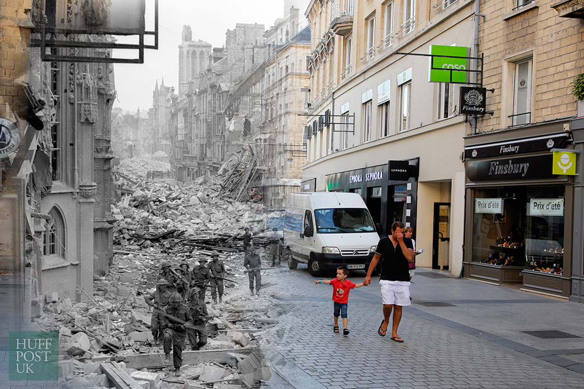 Image result for then and now ww2 photos
