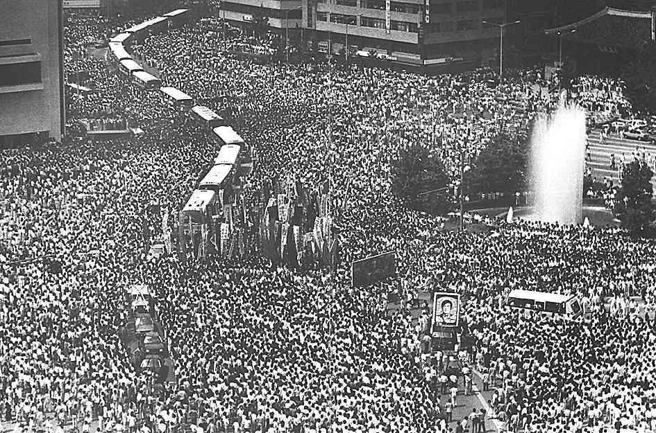 87년 6월 항쟁에 대한 이미지 검색결과