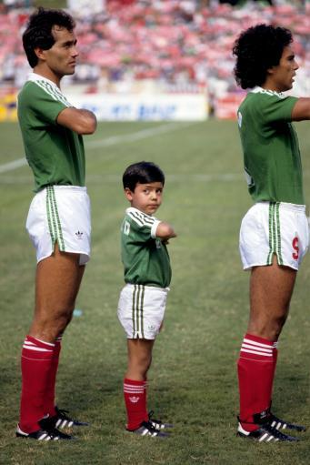 1986 - Mexico field their youngest ever player.(Just kidding. He's the mascot!)