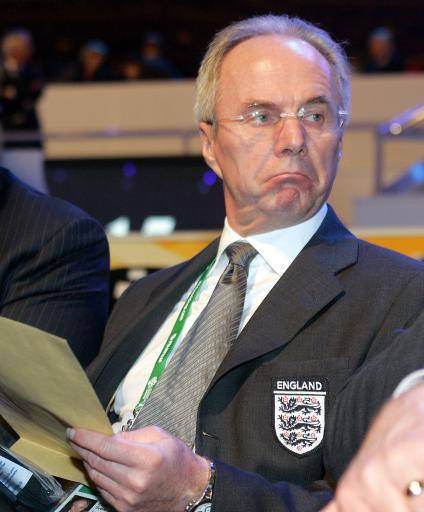2005 - Sven Goran Eriksson enjoying the draw for the 2006 World Cup.