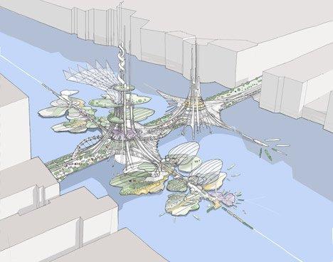 Sắp xây dựng tòa tháp đôi cao nhất thế giới (1)