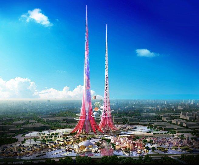 Sắp xây dựng tòa tháp đôi cao nhất thế giới (2)