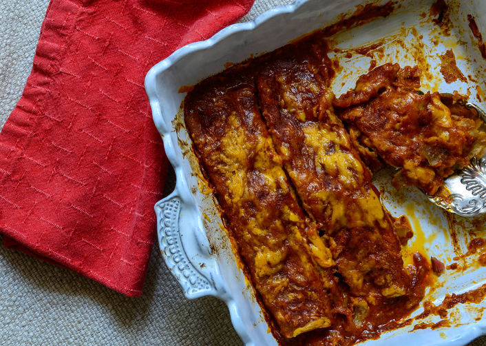 Get the Swiss Chard and Zucchini Enchiladas recipe from Karen Bianchi ...