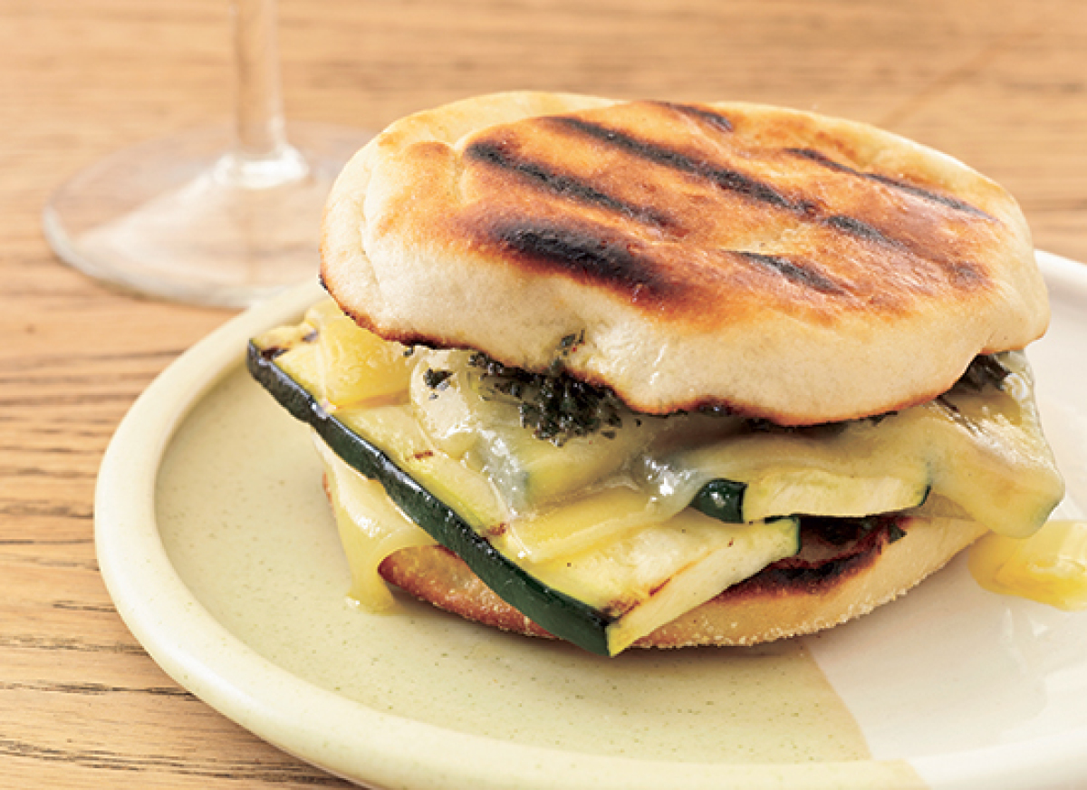 Get the Grilled Gruyere and Zucchini Sandwiches with Smoky Pesto ...