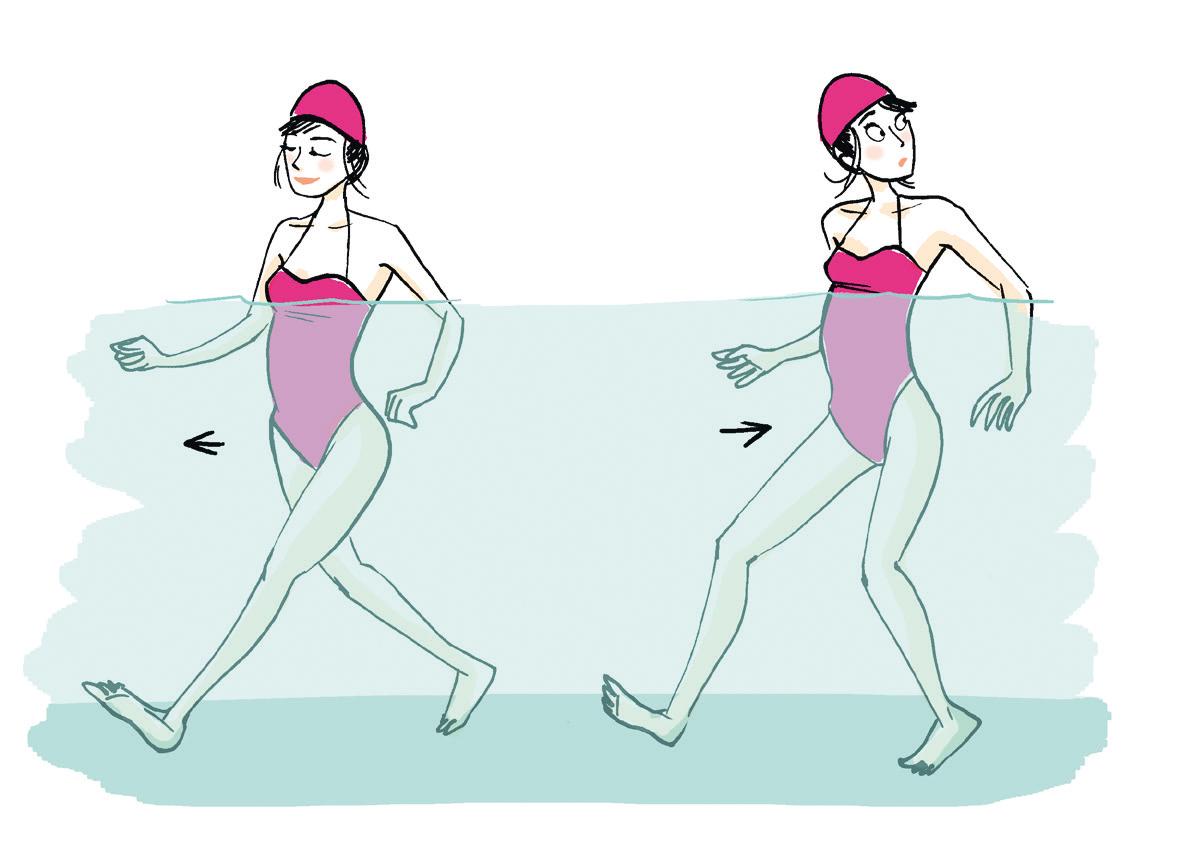 Les meilleurs mouvements d 39 aquagym pour perdre du poids - Les bienfaits de la marche rapide sur tapis ...