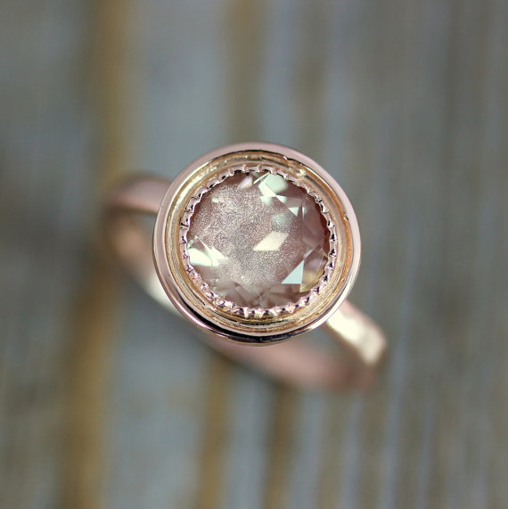 onegarnetgirl via etsy - Alternative Wedding Rings