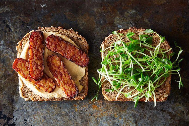 Smoky Tempeh And Hummus Sandwiches. Image: Food52