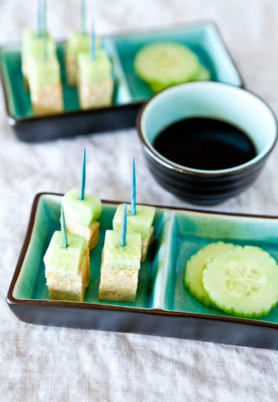 Tempeh and Cucumber Skewer. Image: Averie Cooks