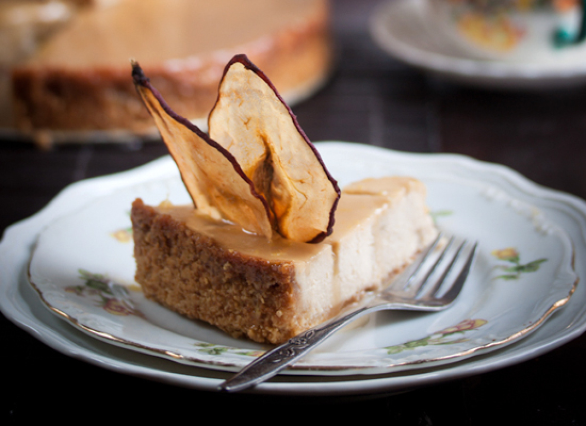Get the Pear and Ginger Ricotta Cheesecake with Salted Caramel Drizzle ...