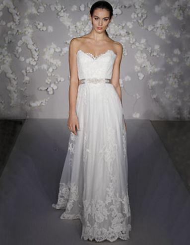 Lazaro Lace Aline Gown