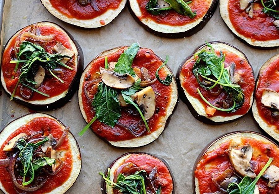 Potato-Crust Pizza With Roasted Eggplant & Peppers Recipes ...