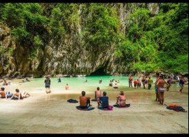 Beach on the other side of Emerald Cave, Koh Mook, Thailand