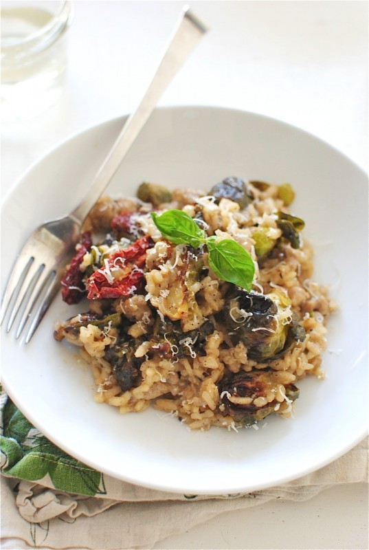Get the Risotto with Sausage, Brussels Sprouts and Sundried Tomatoes ...