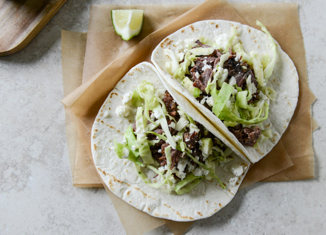 Get the Short Rib Tacos with Salted Lime Cabbage recipe from How Sweet ...