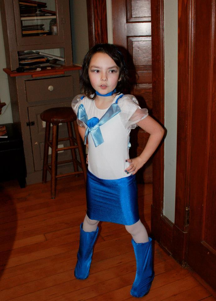 Girl Dressed as Boy Halloween Sailor Mercury
