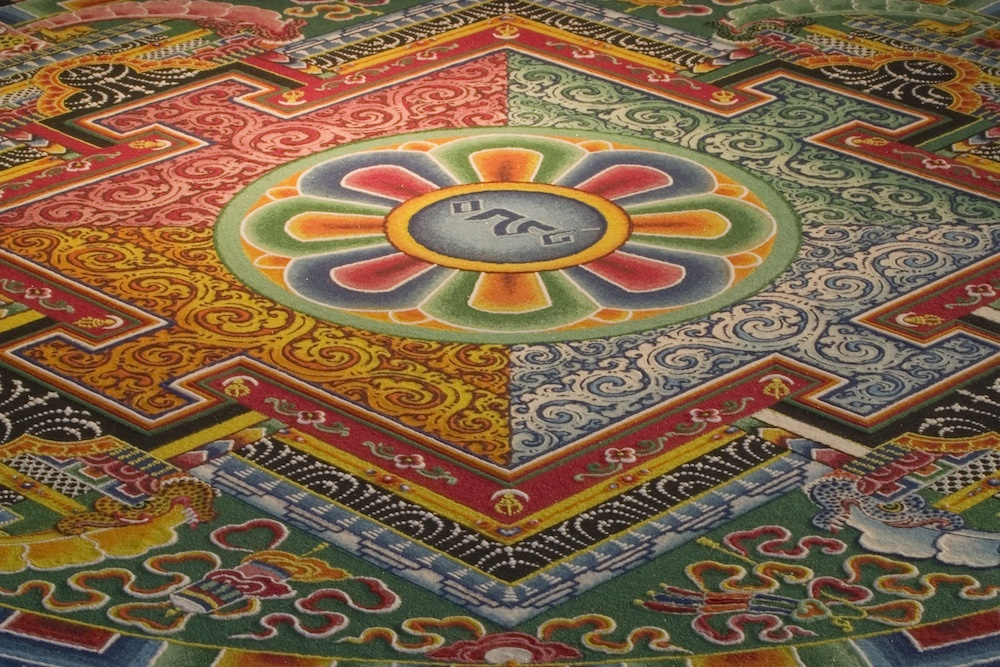 Tibetan Monks Create Wildly Intricate Sand Painting, Before ...