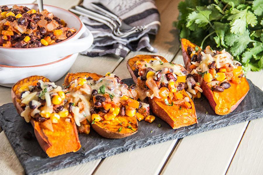 Twice-Baked Sweet Potatoes With Feta And Sumac Recipes — Dishmaps