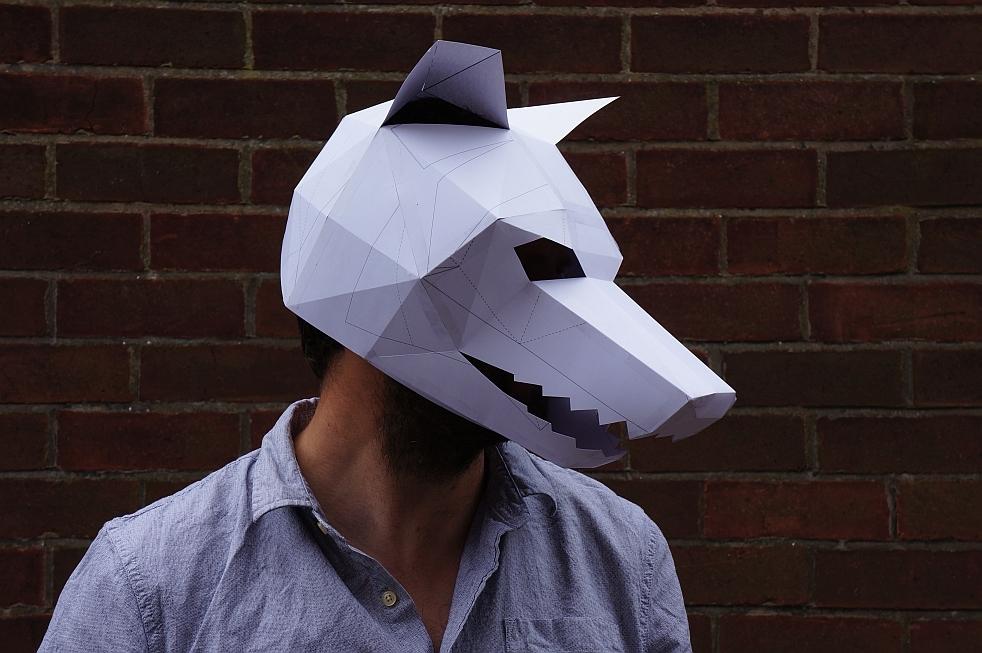 Как сделать маску волка из бумаги своими руками