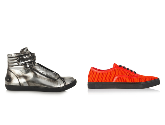 Karl Lagerfeld Metallic Patent-Leather Shoes , Alexander Wang Jess