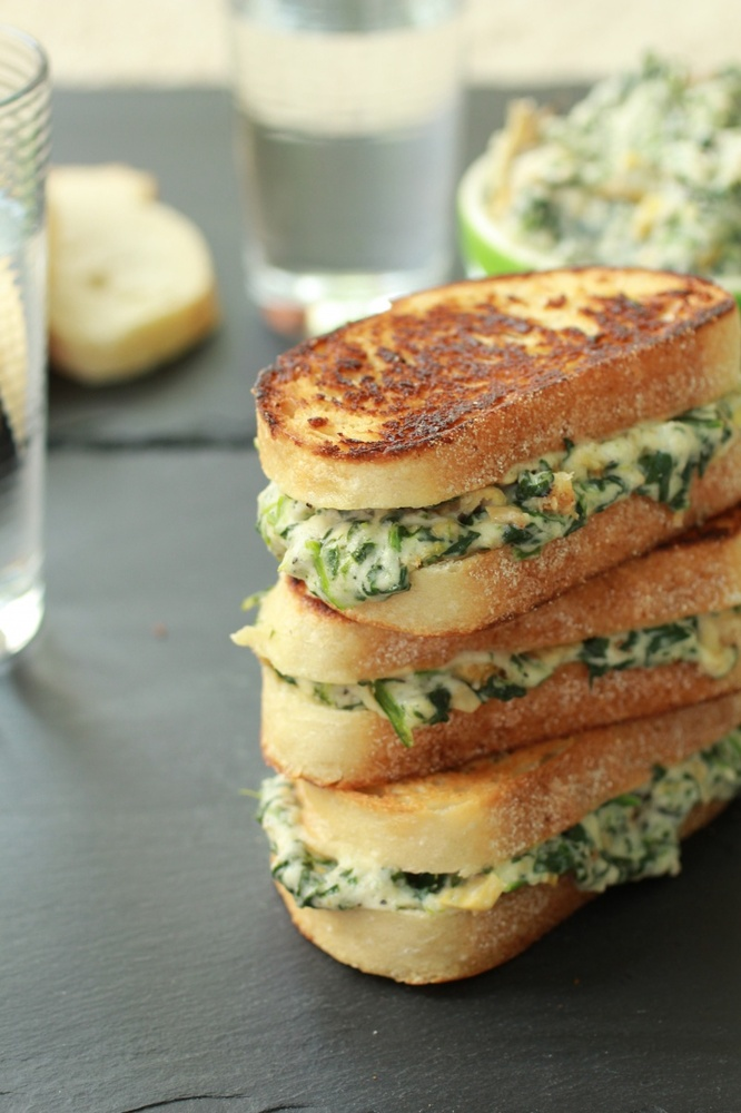 Get the Spinach and Artichoke Melts recipe from Half Baked Harvest