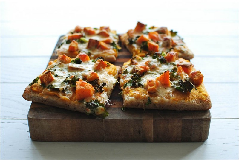Get the Roasted Butternut Squash Pizza recipe by Bev Cooks