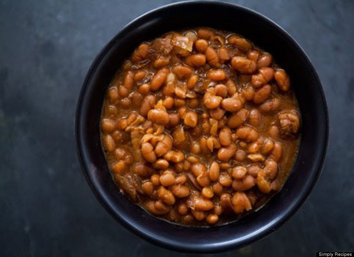 46 slow cooked boston baked beans