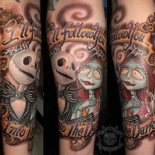Nightmare Before Christmas Sally Tattoo
