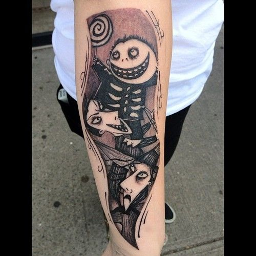 20 39 nightmare before christmas 39 tattoos you 39 ll totally want. Black Bedroom Furniture Sets. Home Design Ideas