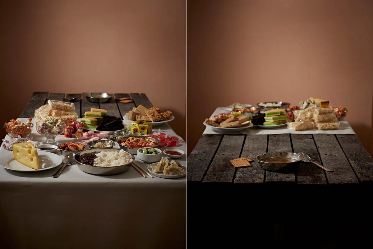 【画像】これが富裕層と貧困層の食事らしい 「持てる者と持たざる者」の目に余る格差
