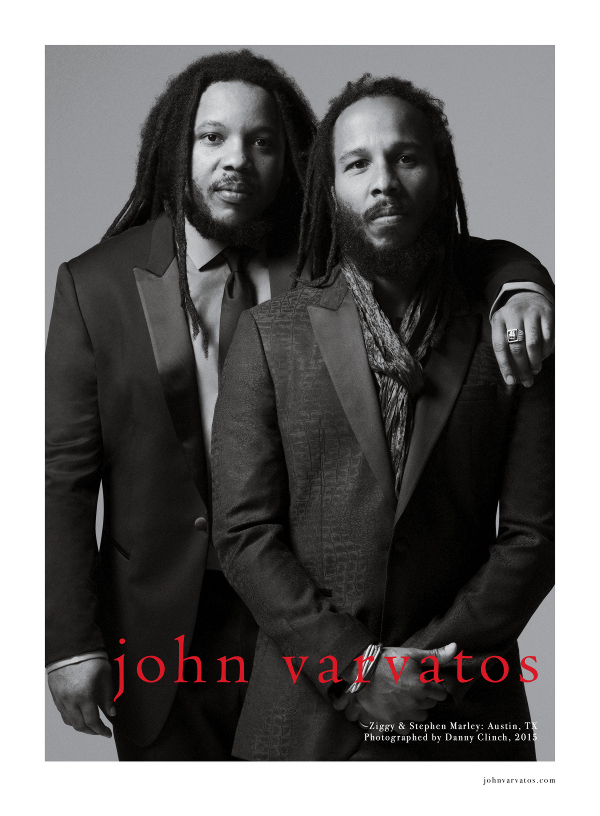 John Varvatos Taps Ziggy Marley And Stephen Marley For Spring 2015 Campaign (PHOTOS)
