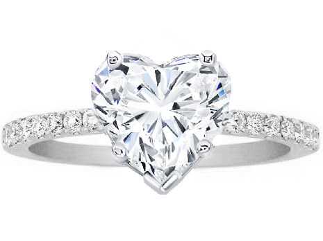 heart shaped enement rings that are perfect for valentine s day - Heart Shaped Diamond Wedding Ring