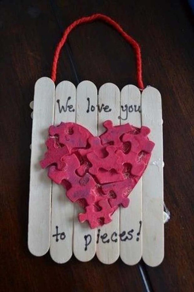 23 easy valentine 39 s day crafts that require no special for Toddler valentine craft ideas